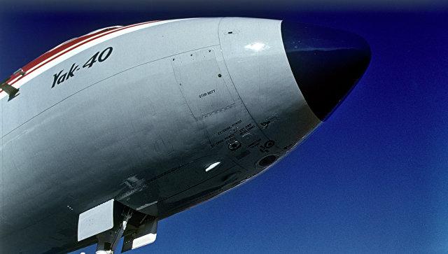 ВПодмосковье Як-40 выкатился запределы полосы из-за поломки шасси