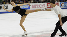 Российские спортсмены Екатерина Боброва и Дмитрий Соловьев на первом этапе серии Гран-при сезона-2016/17 Skate America