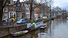Вид на один из каналов Амстердама. Архивное фото