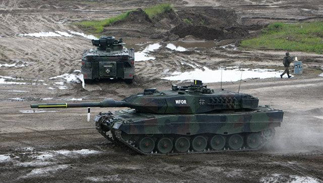 Немецкий танк Leopard 2. Архивное фото