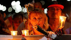 Акция памяти жертв крушения российского самолета А321 в Египте