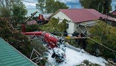 В Сочи вертолет упал на частный дом В Сочи вертолет упал на частный дом