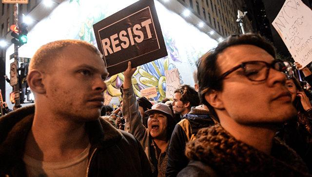 Акция протеста в США. Архивное фото