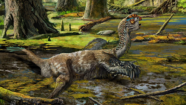 Так художник представил себе смерть грязевого дракона в болоте