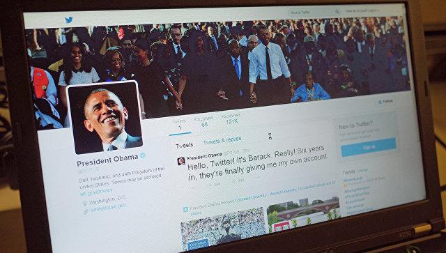 Страница Барака Обамы в Twitter