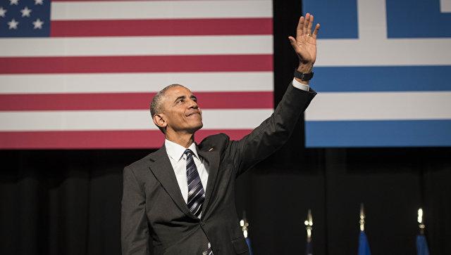 Президент США Барак Обама во время визита в Грецию