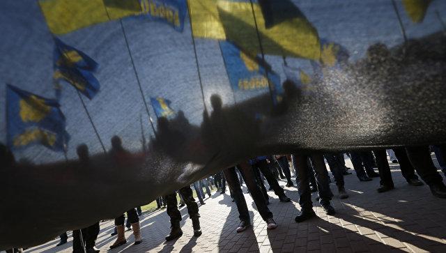 Украинские националисты спровоцировали драку в мэрии Киева