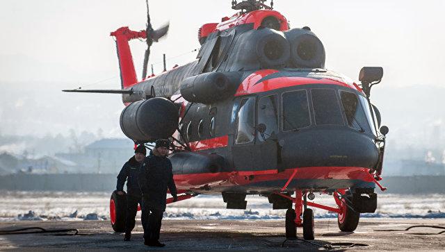 Морская авиация ВМФ РФ получила 1-ый вертолет Ми-8АМТШ-ВА