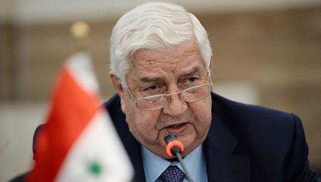 Министр иностранных дел Сирии Валид Муаллем. Архивное фото