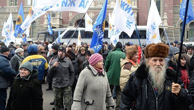 Протесты вКиеве: Гонтарева обвинила организаторов акций врасшатывании политической ситуации