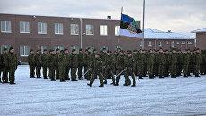 Смена командующего батальона саперов Сил обороны Эстонии. Архивное фото
