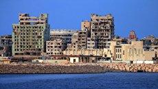 Вид на город Бенгази с моря. Архивное фото