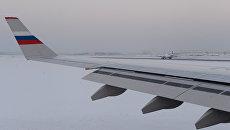 Российский самолет на взлетно-посадочной полосе аэропорта Внуково. Архивное фото