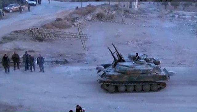 Войска Сирии на100% выбили террористов изгорода Эт-Телль впровинции Дамаск