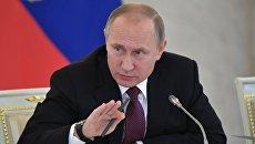Президент РФ Владимир Путин во время заседания Совета по развитию гражданского общества и правам человека. 8 декабря 2016
