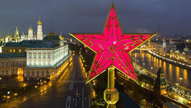 Звезда на Кремле. Архивное фото