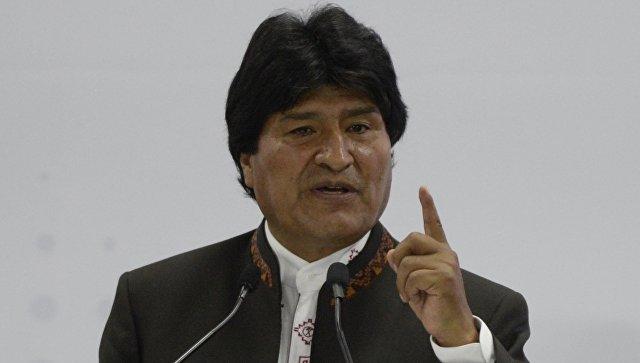 Боливиарский президент Эво Моралес. Архивное фото
