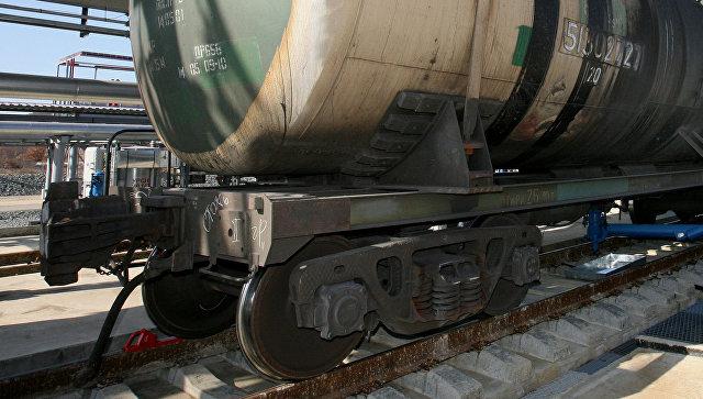 ВБолгарии сошел срельсов и зажегся товарный поезд