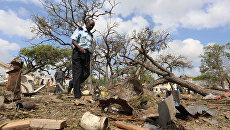 Последствия взрыва в столице Сомали Могадишо, 11 декабря 2016