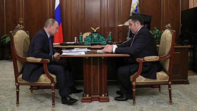 Губернатор Тверской области отчитался перед Путиным оразвитии Верхневолжья