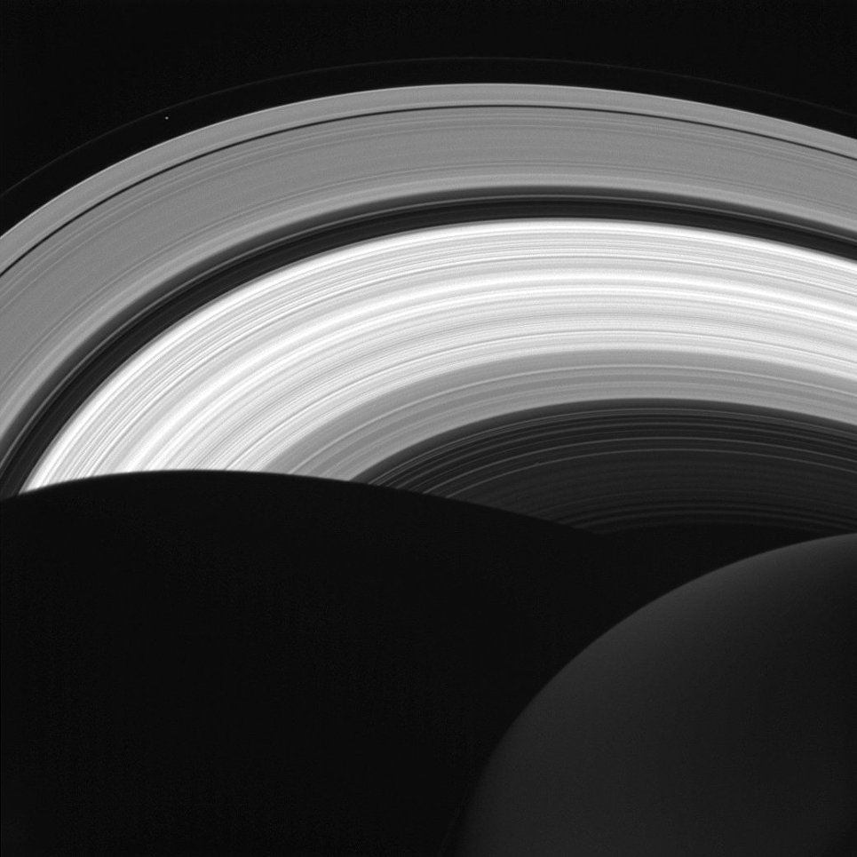 Кольца Сатурна снятые космическим аппаратом Кассини
