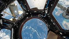 Космический грузовой корабль Cygnus пристыкованный к модулю МКС. Архивное фото