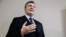 Бывший президент Украины Виктор Янукович в Дорогомиловском суде Москвы. Архивное фото
