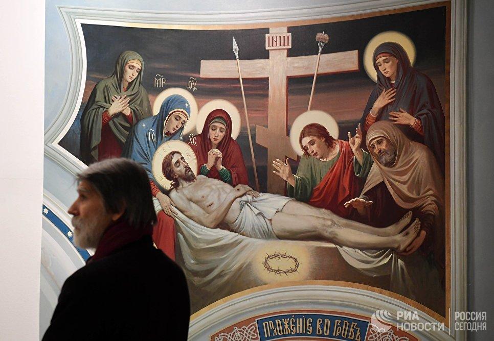 Работа Михаила Полетаева и Василия Нестеренко на выставке Русский Афон
