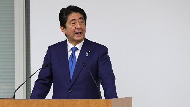 Премьер-министр Японии Синдзо Абэ на заседании российско-японского форума деловых кругов в Токио. 16 декабря 2016