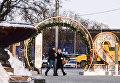 Прохожие на Пушкинской площади в Москве