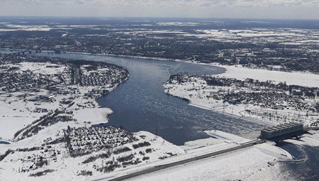 Плотина на реке Волга. Архивное фото
