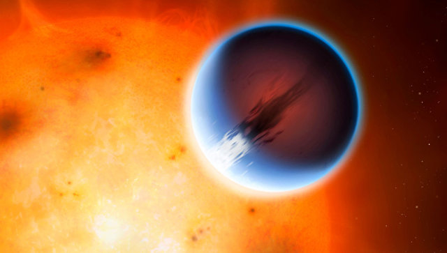 Планета HD189733b, в чьей атмосфере присутствуют сверхбыстрые сверхзвуковые ветра