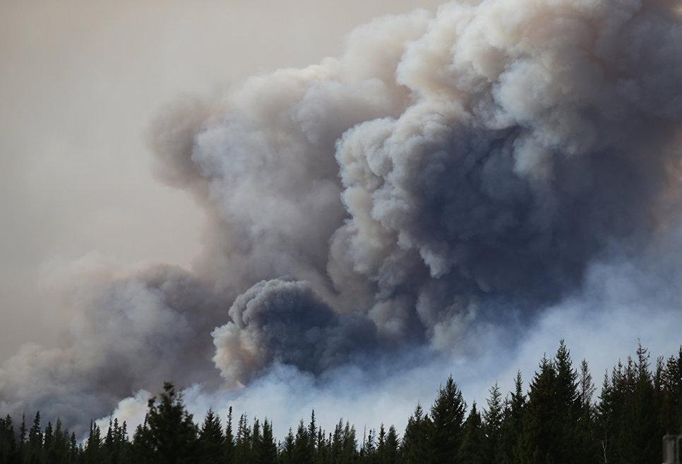 Лесной пожар в окрестностях города Форт Мак-Муррей, Канада. 7 мая 2016