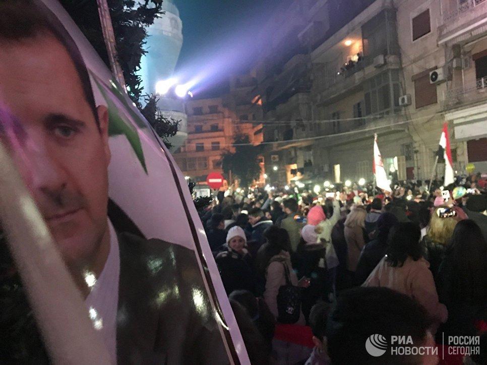 Впроцессе празднования победы вАлеппо произошел взрыв