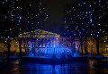 Новогодняя иллюминация на одной из улиц Санкт-Петербурга