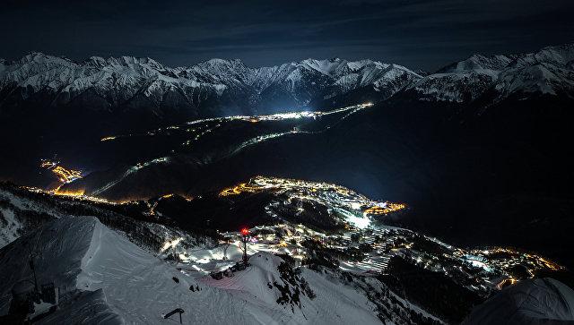 Вгорах Сочи официально открыли сезон зимнего отдыха
