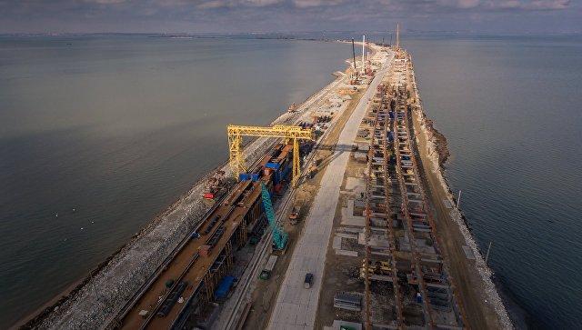 Строительство Креченского моста. Декабрь 2016