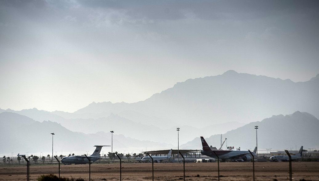Самолеты на летном поле международного аэропорта в Шарм эш Шейх