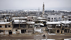 Снег в Хомсе. Архивное фото