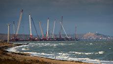 Строительство Крымского моста. Декабрь 2016