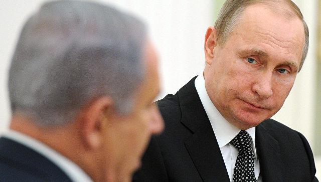 Путин обсудил сНетаньяху ситуацию вближневосточном регионе
