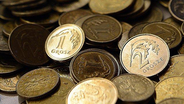 Польские гроши (1/100 злотого). Архивное фото