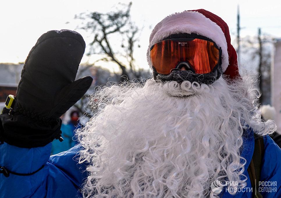 Участник Второго зимнего Московского Велопарада
