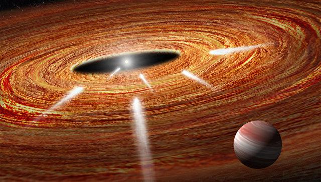 «Хаббл» отыскал большое количество комет, падающих назвезду