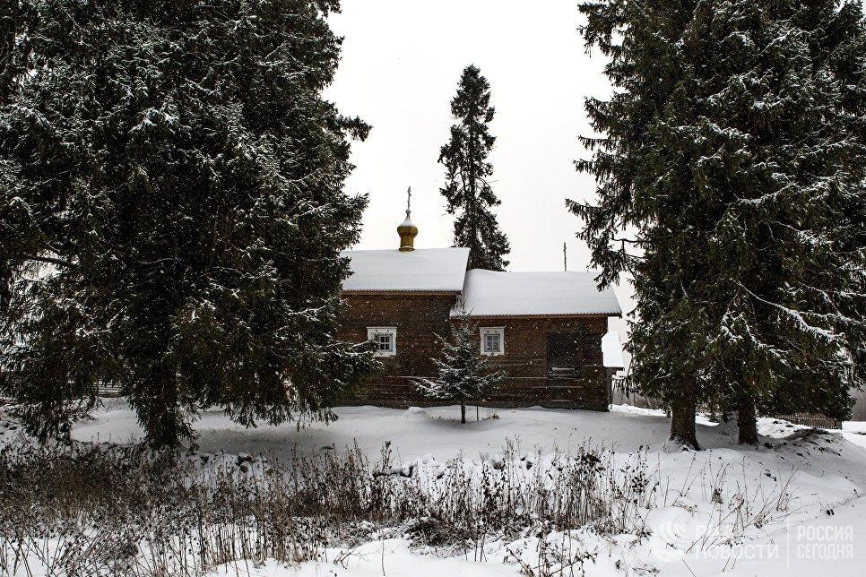 Часовня Смоленской Божьей Матери в деревне Кинерма