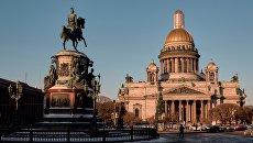 Памятник Николаю I у Исаакиевскиевского собора в Санкт-Петербурге. Архивное фото