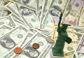 Долларовые купюры разного достоинства