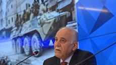 Бывший генерал Вооруженных сил Сирии Мустафа Шейх во время пресс-конференции в международном мультимедийном пресс-центре МИА Россия сегодня