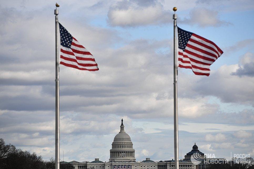 Вид на Капитолий в в Вашингтоне