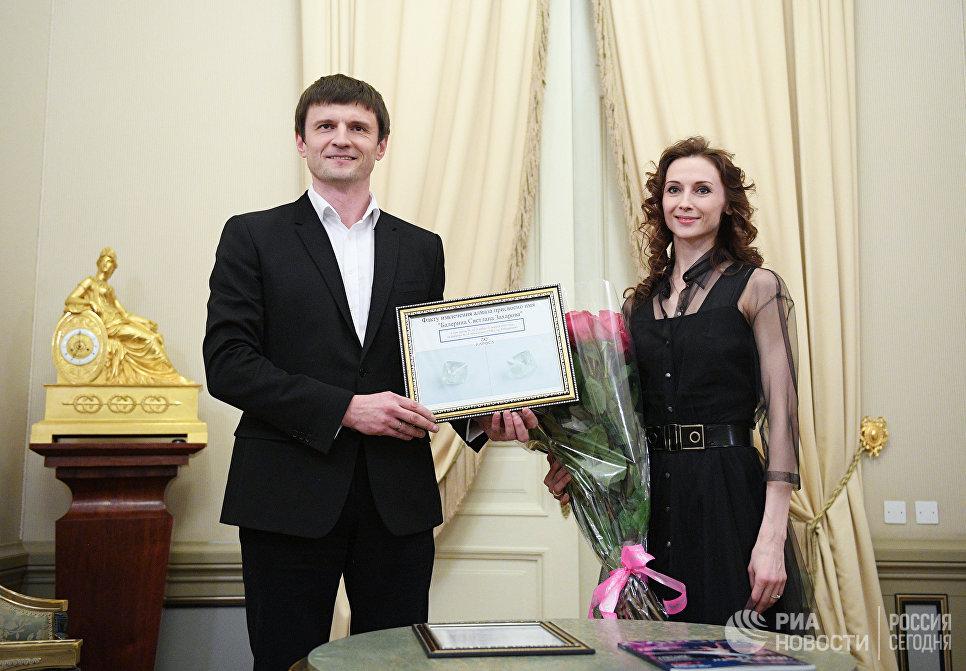 Балерина Большого театра Светлана Захарова получила сертификат